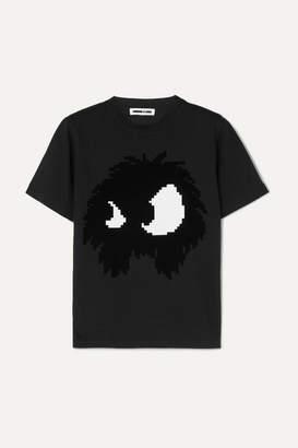 McQ Flocked Cotton-jersey T-shirt - Black