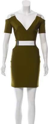 Thierry Mugler Short Sleeve Mini Dress