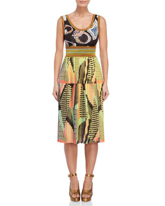 Save The Queen Printed Pleated Dress