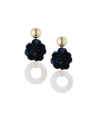 Romeo & Juliet Couture Flower & Donut Drop Earrings