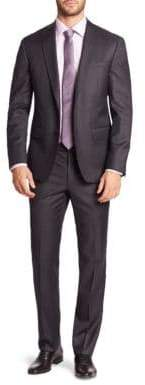 Saks Fifth Avenue 611 New York Solid Wool Suit
