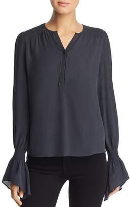Go Silk Go by Crinkled Bell Sleeve Blouse