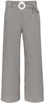 Solid & Striped gingham wide-leg trousers