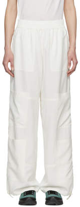 Wales Bonner Off-White Silk Yoga Trousers
