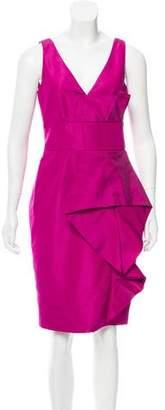 Lela Rose Silk Pleated Dress