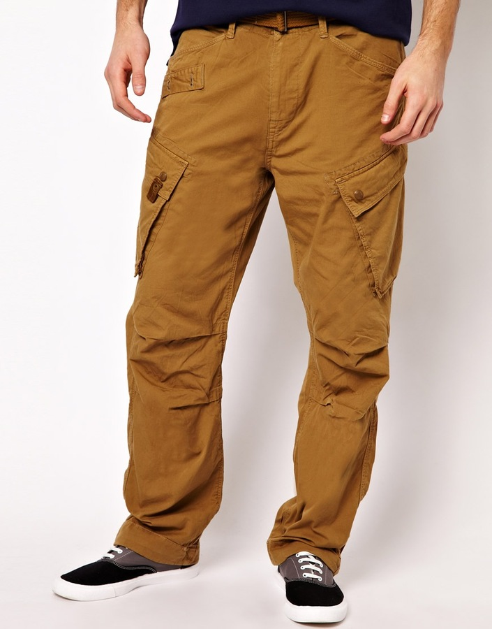 G Star Loose Fit Cargo Pants with Belt