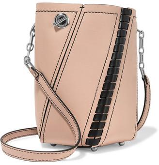 Proenza Schouler - Hex Mini Paneled Leather Shoulder Bag - Beige $990 thestylecure.com
