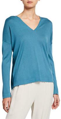 Eileen Fisher Silk/Cashmere V-Neck Sweater