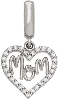 Proenza Schouler FINE JEWELRY Personal Style White Cubic Zirconia Sterling Silver Heart Charm