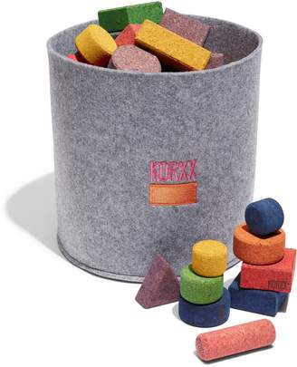 KORXX BY ECR4KIDS 56-Piece Eco-Brix with Storage Bin