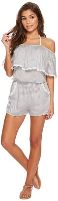 Becca by Rebecca Virtue Nantucket Romper Cover-Up Women's Swimsuits One Piece