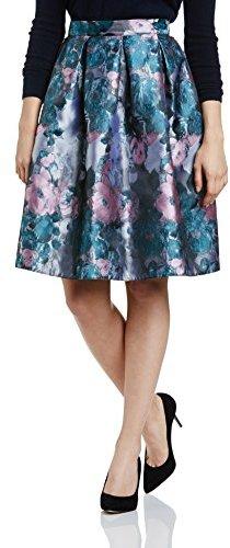 John Zack Women Print Midi A-Line Floral Skirt