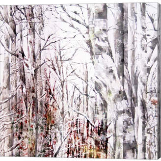 Braun Metaverse Winter Trees by Lisa Powell Canvas Art