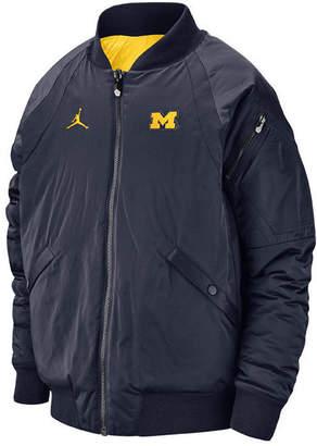 Jordan Men's Michigan Wolverines Iconic Diamond Shape Bomber Jacket