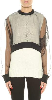 Noir Kei Ninomiya Wool And Organza Sweater