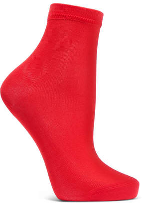 Maria La Rosa Silk-blend Socks - Tomato red