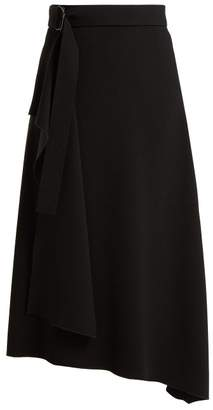 Joseph Sybil Asymmetric Twill Skirt - Womens - Black