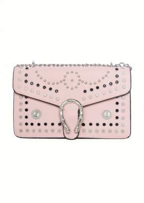 Missy Empire Missyempire Sasha Pink Studded Horseshoe Shoulder Bag