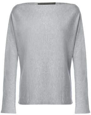 Enza Costa Mélange Fleece Sweatshirt