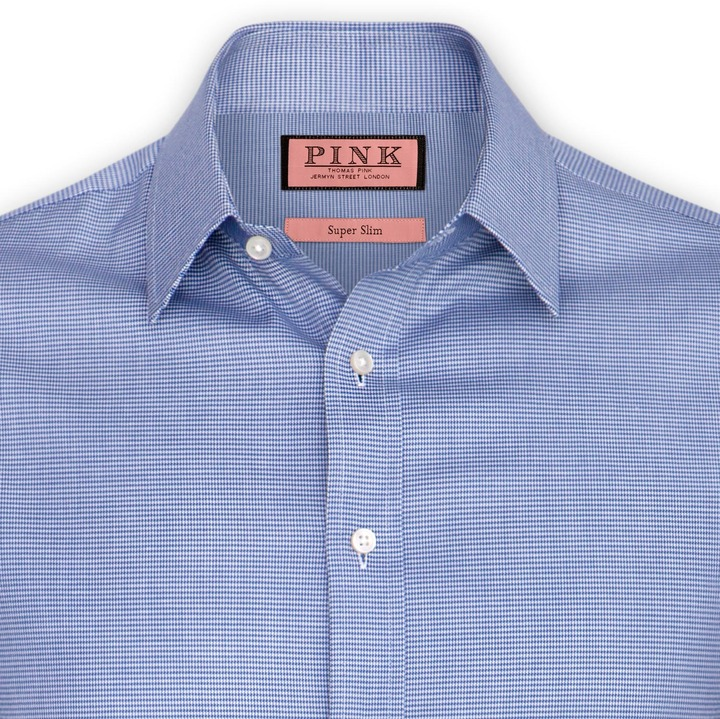 Thomas Pink Onslow Texture Shirt - Button Cuff