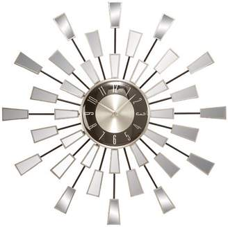 ABC Home Collection Decmode Metal and Mirror Wall Clock, Multi Color