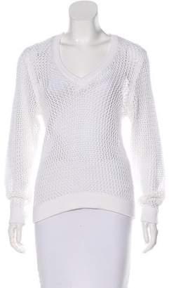 Rag & Bone Long Sleeve Crochet Sweater