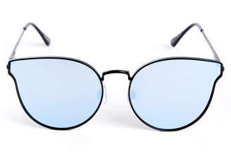 Quay All My Love Black And Purple Cateye Sunglasses