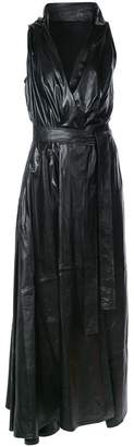 Ann Demeulemeester V-neck belted dress
