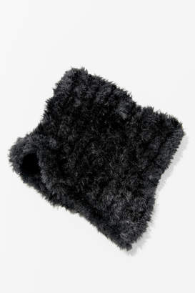 Urban Outfitters Plush Teddy Neck Gaiter Scarf