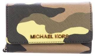 MICHAEL Michael Kors Camouflage Leather Wallet