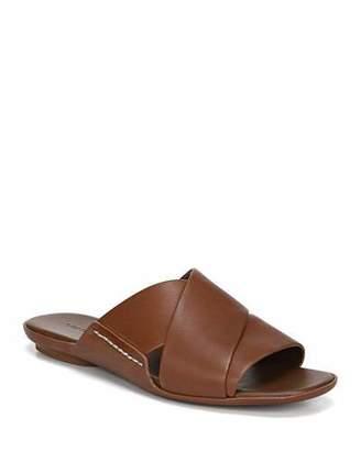 Vince Tamara Flat Leather Slide Sandals