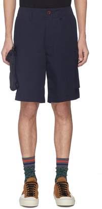 Kolor x PORTER detachable pouch ripstop cargo shorts