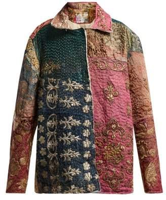 BEIGE By Walid - Hope Panelled 19th Century Silk Jacket - Womens Multi