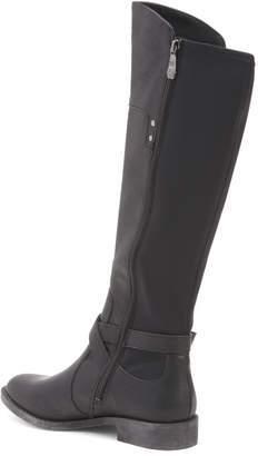 Distressed Stretch High Shaft Boots