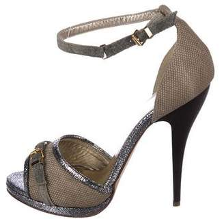 Just Cavalli Woven Ankle Strap Sandals