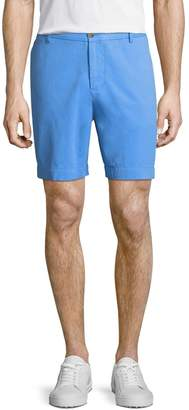 Tailorbyrd Twill Flat-Front Shorts, Blue
