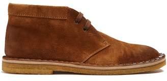 Prada Stud Embellished Suede Desert Boots - Mens - Tan