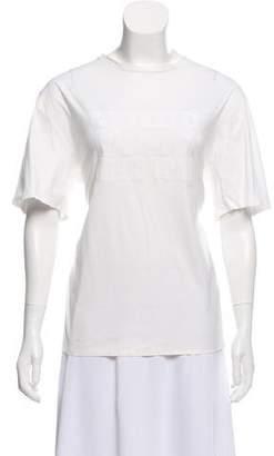 Alexander Wang Graphic Motif Short Sleeve T-Shirt