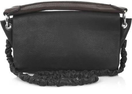 Carven Washed leather shoulder bag