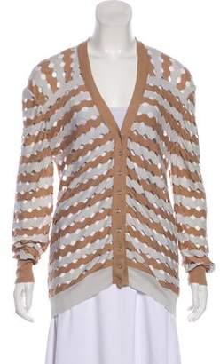 Nina Ricci Open Knit Long Sleeve Cardigan