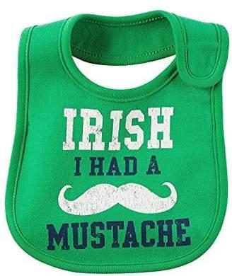 Carter's Baby Boys' Irish I Had A Mustache Bib