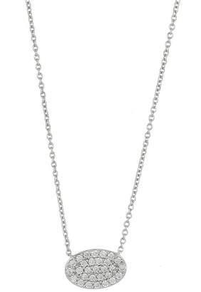 Bony Levy 18K White Gold Pave Diamond Oval Pendant Necklace - 0.20 ctw