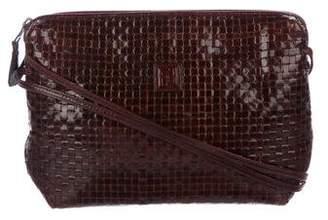 Fendi Vintage Woven Leather Crossbody Bag