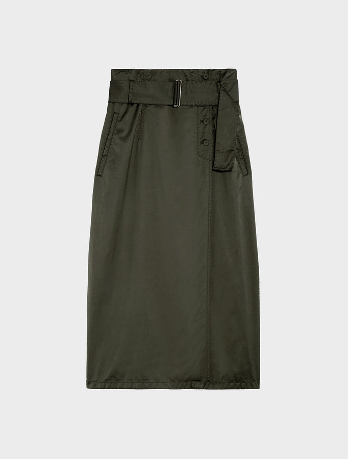 DKNY Dkny Pure Wrap Skirt With Side Buttons