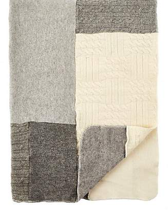 Agua Patchwork Cashmere Baby Blanket - Gray