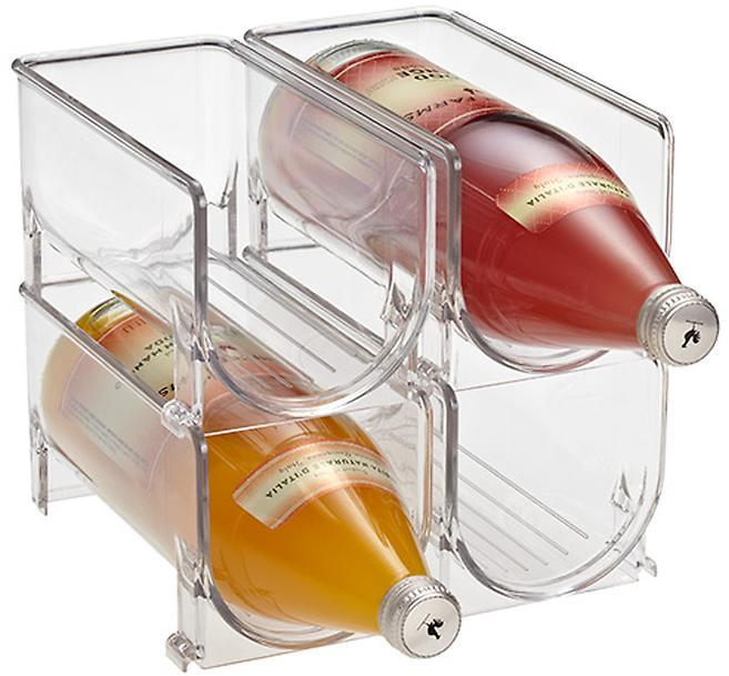 Container Store Fridge Binz Wine Holder Clear