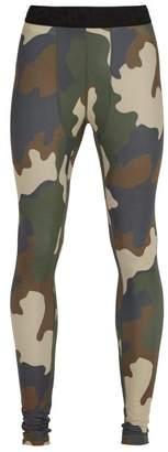 The Upside Camouflage Print Performance Leggings - Mens - Khaki Multi