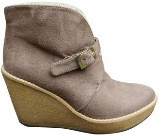 Stella McCartney Beige Leather Ankle boots