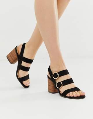 Park Lane buckle strap block heels