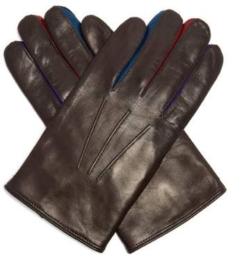Paul Smith - Constantina Leather Gloves - Mens - Brown